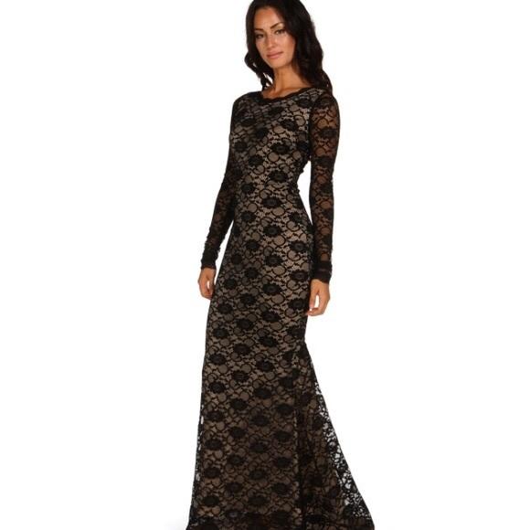 Windsor Dresses Long Black Lace Holiday Prom Dress Poshmark